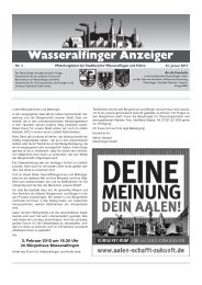 VERANSTALTUNGEN - Stadt Aalen
