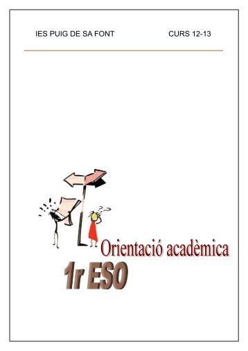 DOSSIER 1r ESO 12-13.pdf - IES Puig de sa Font