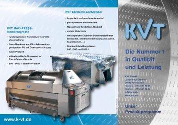 "Flyer ""KVT Produktprogramm"" - KVT GmbH Kirchzarten"
