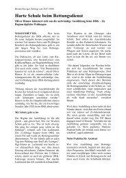 Harte Schule beim Rettungsdienst - DRK-Kreisverband Wolfenbüttel