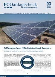 ECOanlagecheck - KWA AG