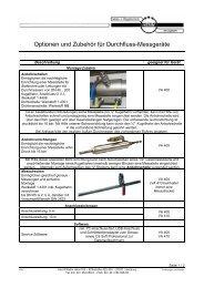 Optionen und Zubehör für Durchfluss-Messgeräte - Karl-Wilhelm ...