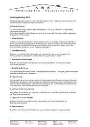 Leistungen im Überblick (.pdf / 120 kb) - KWK Immobiliendienst