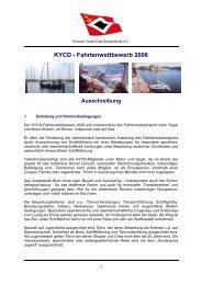 KYCD - Fahrtenwettbewerb 2008 - Kreuzer Yacht Club Deutschland ...