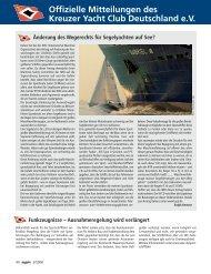 Ausgabe 5 / 2008 - Kreuzer Yacht Club Deutschland e.V.