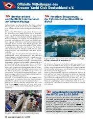 Ausgabe 3 / 2009 - Kreuzer Yacht Club Deutschland e.V.