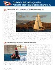 Ausgabe 1 / 2008 - Kreuzer Yacht Club Deutschland e.V.