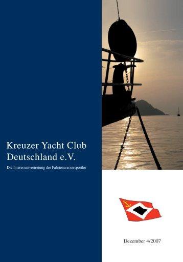 Titel-Rückseite neu! - Kreuzer Yacht Club Deutschland e.V.