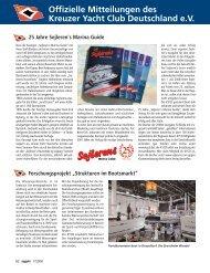 Ausgabe 7 / 2008 - Kreuzer Yacht Club Deutschland e.V.