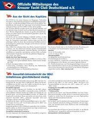 Ausgabe 9 / 2011 - Kreuzer Yacht Club Deutschland e.V.
