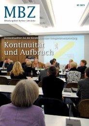MBZ Ausgabe 03/2013 - Zahnärztekammer Berlin
