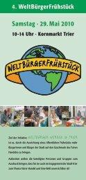 Samstag · 29. Mai 2010 - Lokale Agenda 21 Trier eV