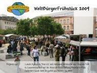 WeltBürgerFrühstück 2009 - Lokale Agenda 21 Trier eV