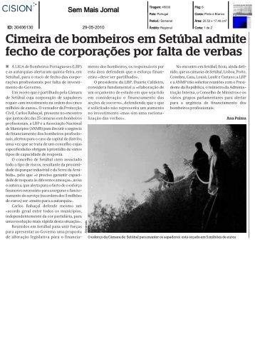 Cimeira de bombeiros em Setúbal admite fecho de ... - Cision