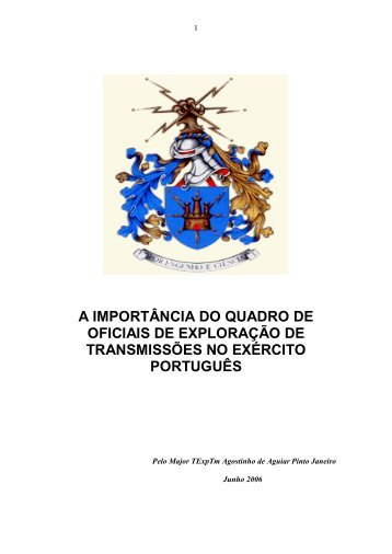 Maj Pinto Janeiro - A Importância dos Militares de - Exército
