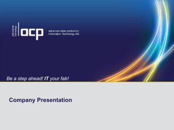 acp-IT Company Presentation - ACP Information Technology AG
