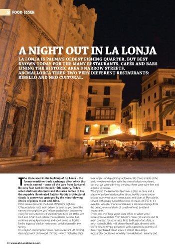 A NIGHT OUT IN LA LONJA - D'Cepa