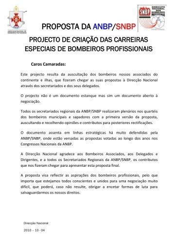 PROPOSTA DA ANBP/SNBP