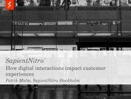 SapientNitro Sales Deck - Adobe Enterprise TV