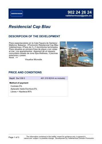 Residencial Cap Blau - Vallehermoso