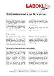 Hygienemanagement in der Tierarztpraxis - Laboklin