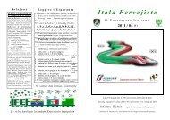 (1) Itala Fervojisto - Federazione Esperantista Italiana