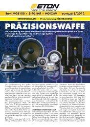 Eton MGS180 + 3-401MT + MGX3W · auto hifi 3/2012 - ACR Bautzen