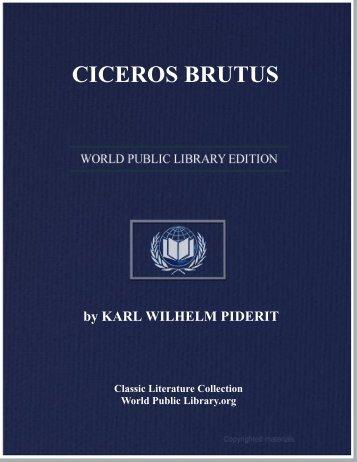 CICEROS BRUTUS - World eBook Library