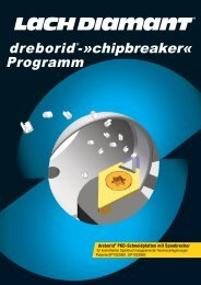 dreborid®-»chipbreaker« Programm - Lach Diamant