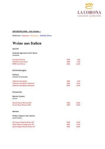Große Weinkarte Italien 2011-01