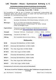 LAC Theodor - Heuss - Gymnasium Kettwig e. V. - LAC-THG Kettwig ...
