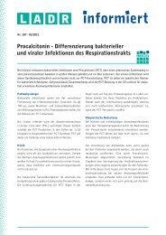 Differenzierung bakterieller und viraler Infektionen des ... - LADR