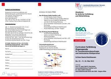 Curriculum Organspende 2013 - Landesärztekammer Hessen