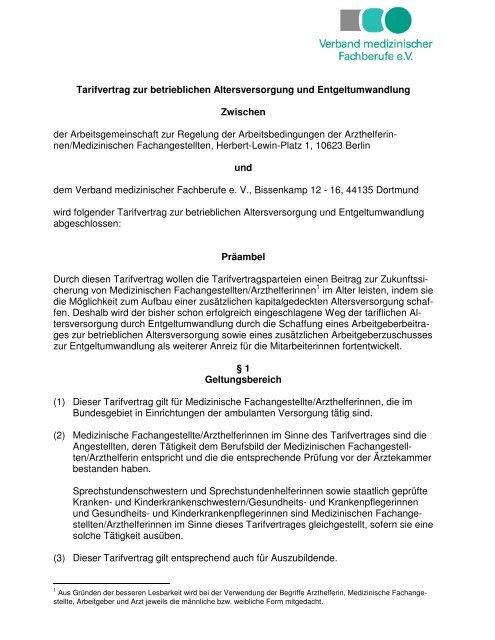 arzthelferin tarifvertrag