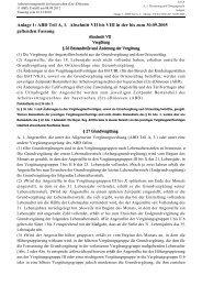 Anlage 1: ABD Teil A, 1. Abschnitt VII bis VIII in der bis zum 30.09 ...