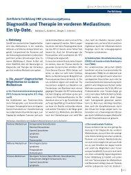 Diagnostik und Therapie im vorderen Mediastinum: Ein Up-Date