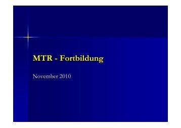 MTR - Fortbildung