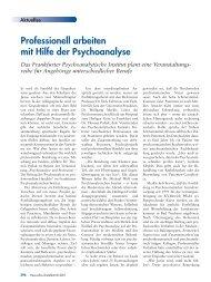 Katja Möhrle: Professionell arbeiten mit Hilfe der Psychoanalyse