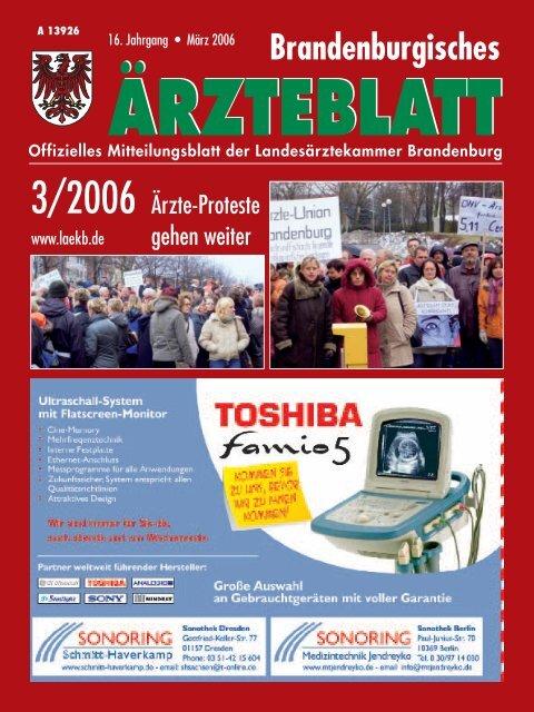 Brandenburgisches Ärzteblatt Ausgabe 03/2006