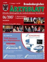 Brandenburgisches Ärzteblatt 06/2007 - Landesärztekammer ...