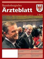 Ausgabe 07-08/2011 (PDF, 8364 kByte) - Landesärztekammer ...