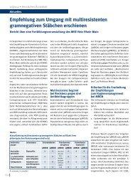 Empfehlung zum Umgang mit multiresistenten ... - MRE-Rhein-Main