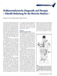Nuklearmedizinische Diagnostik und Therapie – Aktuelle ...