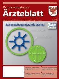 Ausgabe 03/2011 - Landesärztekammer Brandenburg