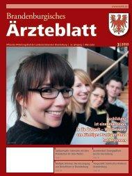 Brandenburgisches Ärzteblatt 03/2010 - Landesärztekammer ...