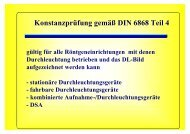 Konstanzprüfung gemäß DIN 6868 Teil 4