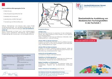 Fachstufe 1 - Landesärztekammer Hessen