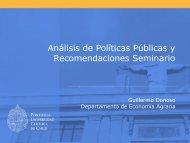 Análisis de Políticas Públicas y Recomendaciones Seminario.