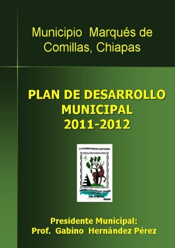 Plan de Desarrollo Municipal Marqués de Comillas, Chiapas