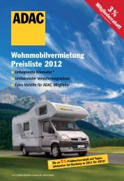 Wohnmobilvermietung Preisliste 2012